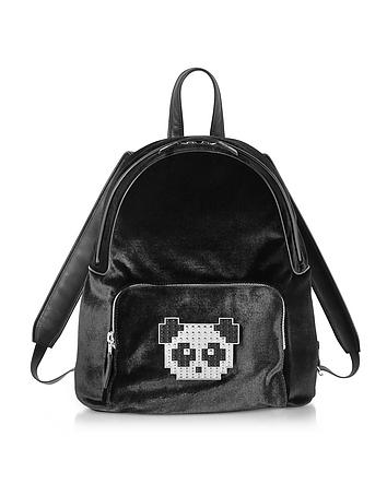 Les Petits Joueurs - Black Velvet Peter Metal Panda Backpack