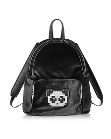 Black Velvet Peter Metal Panda Backpack - Les Petits Joueurs