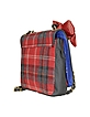 Larry Shoulder - Red Plaid Flap Bag - Lollipops