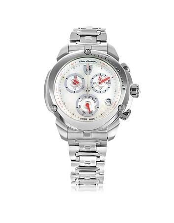Tonino Lamborghini - Shield Lady Silver Tone Stainless Steel Chronograph Watch