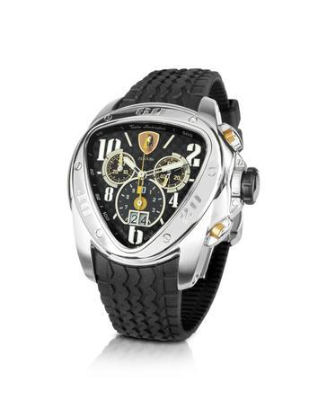 Tonino Lamborghini Men's Watches, Spyder - Black Rubber Strap Chronograph Watch