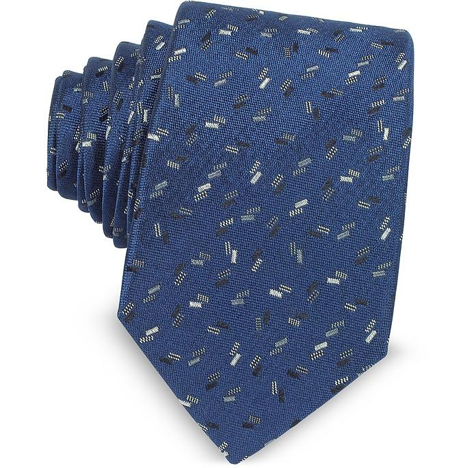 Confetti Pattern Woven Silk Tie - Lanvin