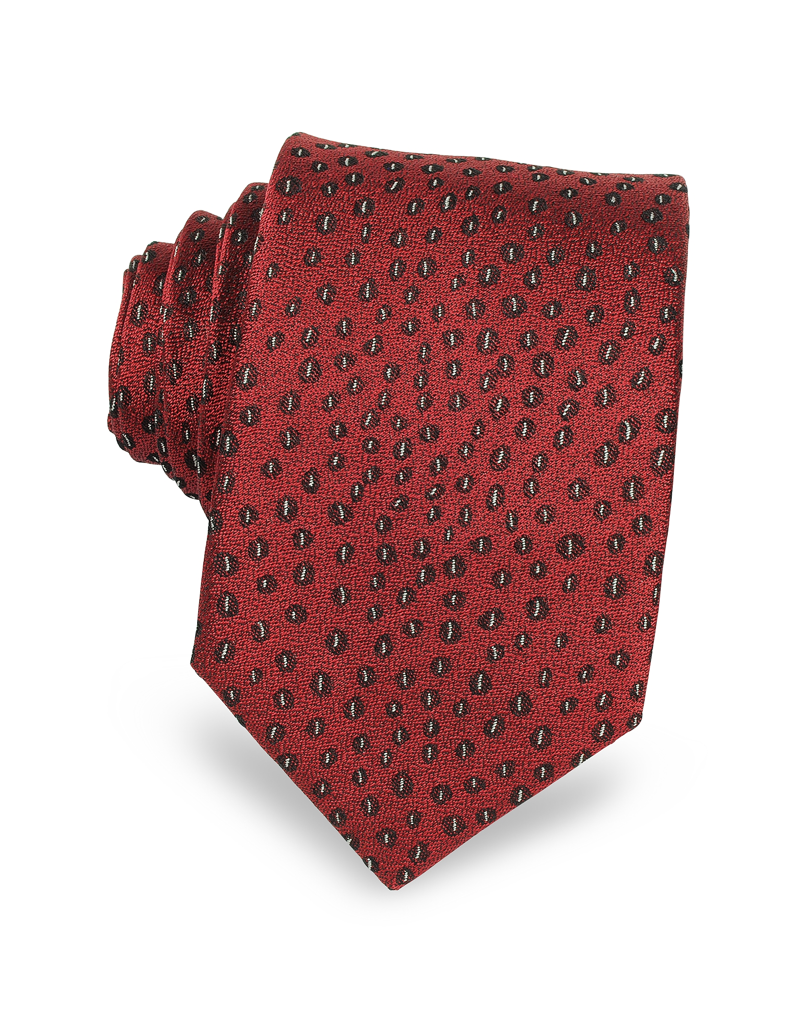 Image of Lanvin Designer Ties, Abstract Woven Twill Silk Narrow Tie
