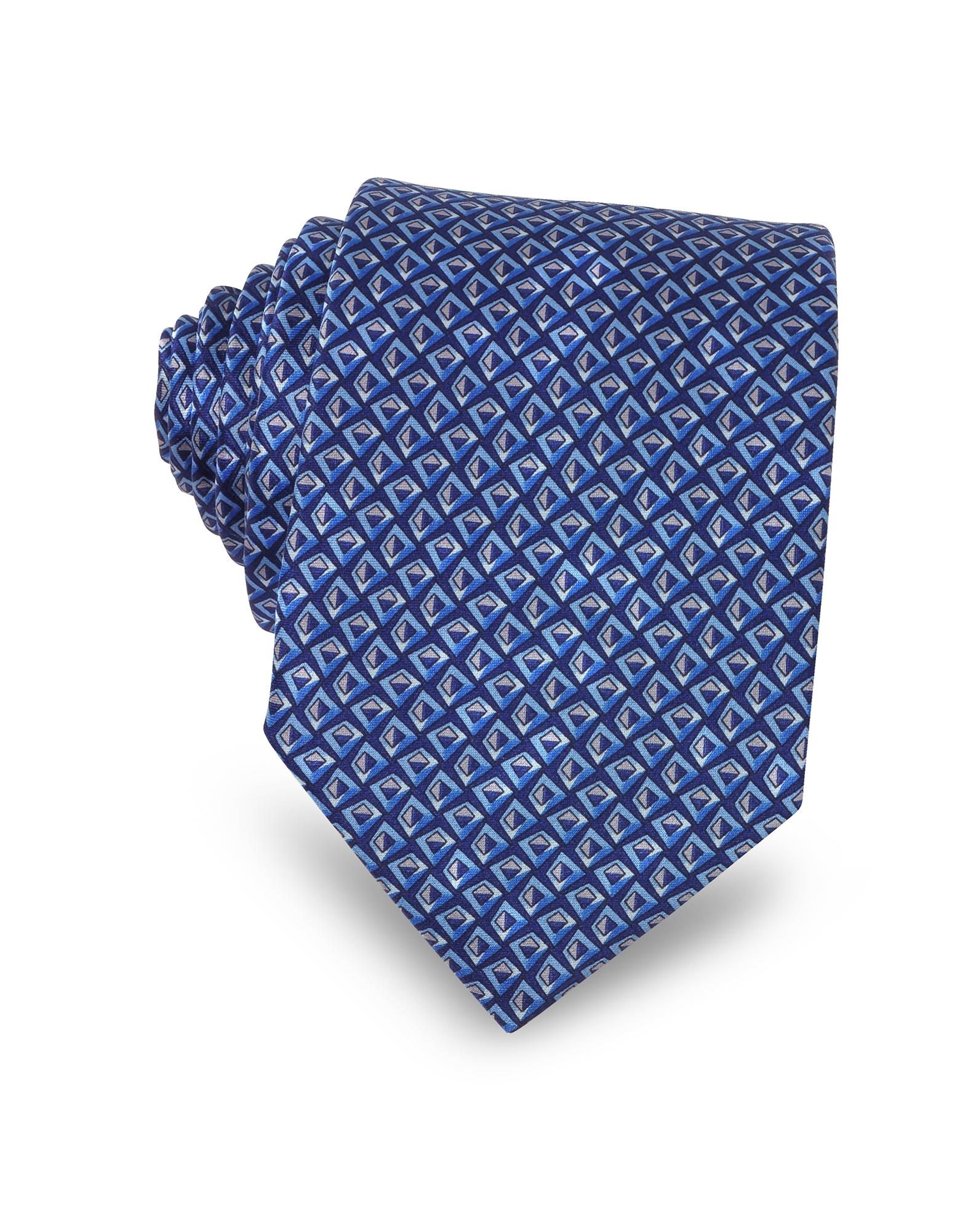 Pattern Print Silk Men's Narrow Tie