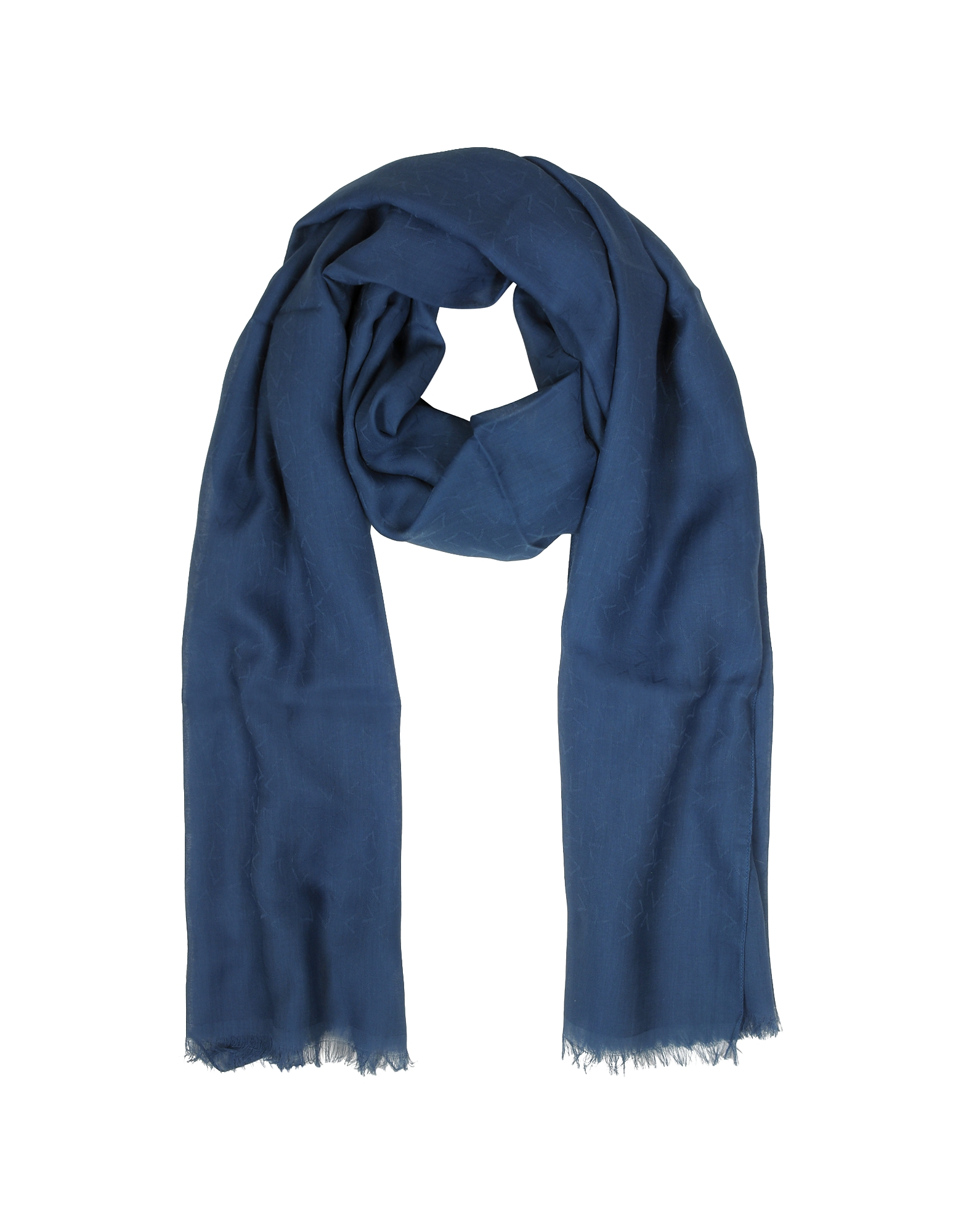 Blue Signature Cotton Men's Scarf от Forzieri.com INT