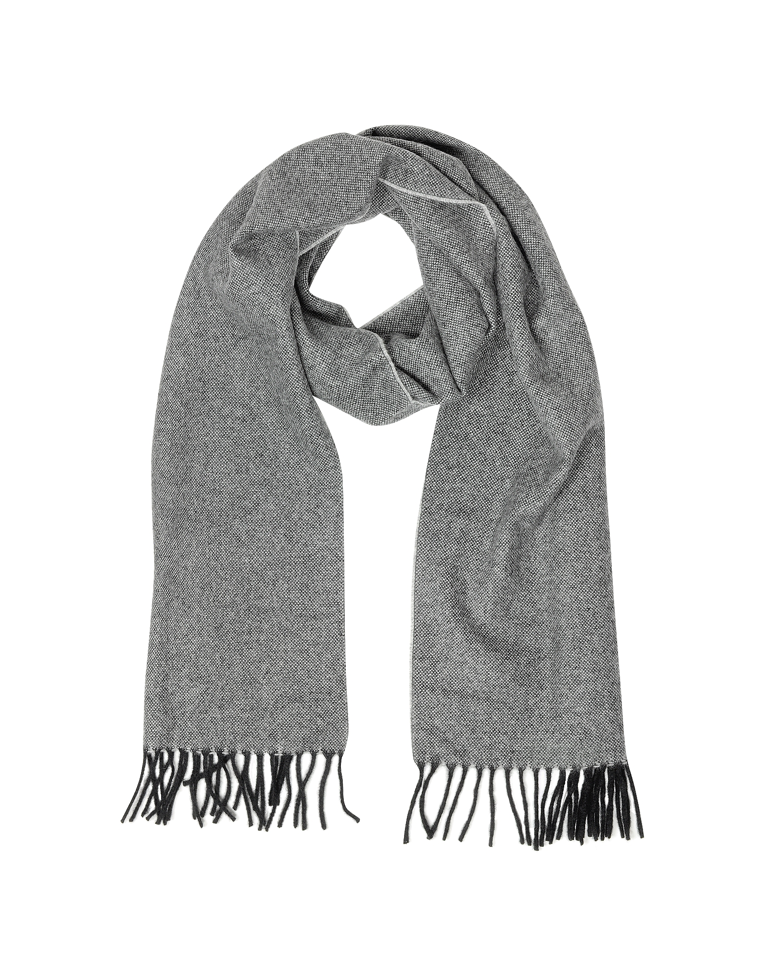 Two Tone Pure Cashmere Men's Scarf w/Fringes от Forzieri.com INT