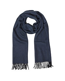 Two Tone Pure Cashmere Men's Scarf w/Fringes
