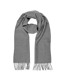Solid Wool Fringed Men's Scarf - Lanvin