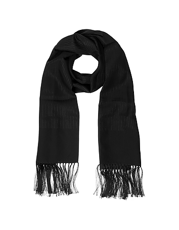 1950s Style Mens Clothing Solid Silk Fringed Mens Long Scarf $148.80 AT vintagedancer.com