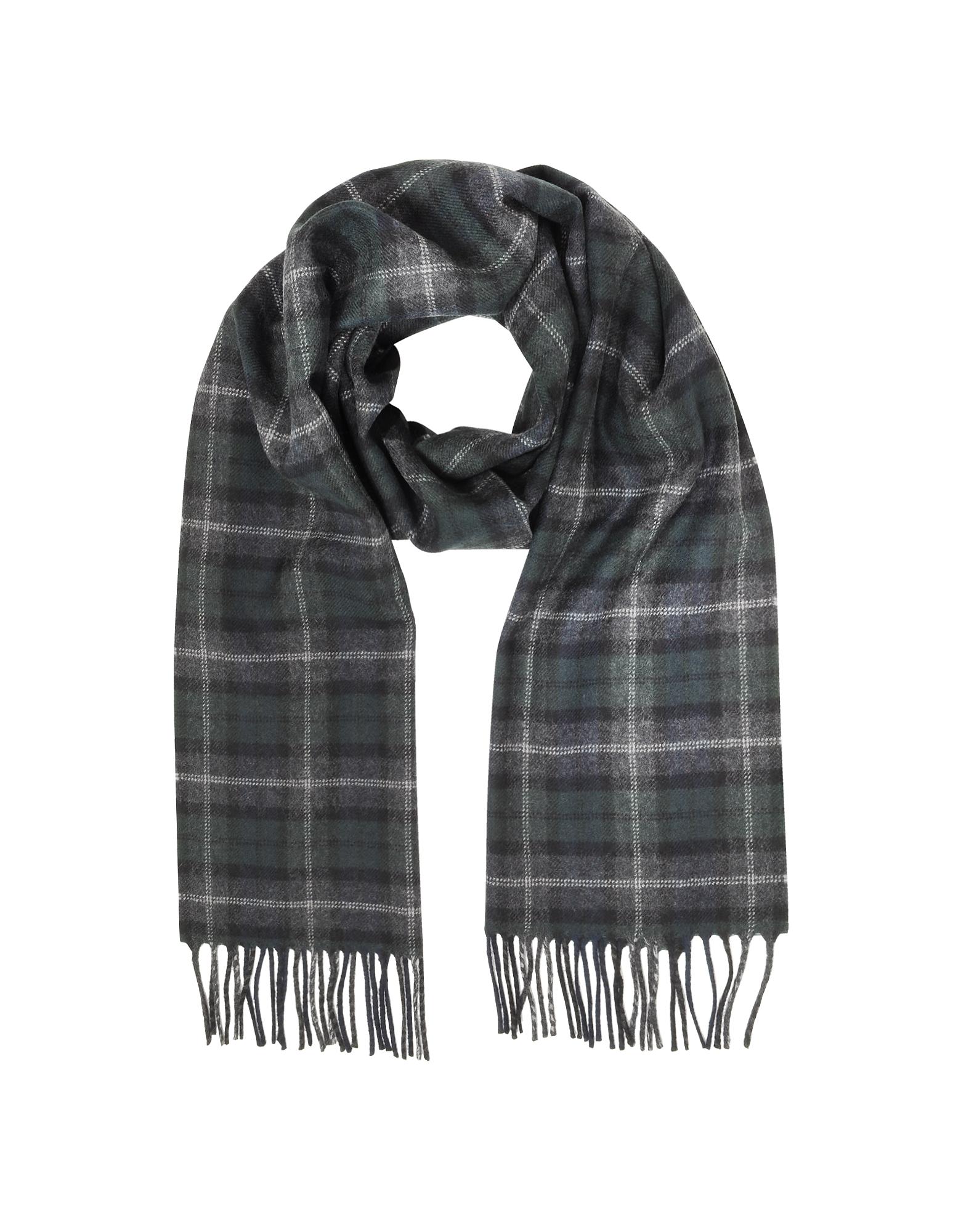 Tartan Solid Wool Fringed Scarf