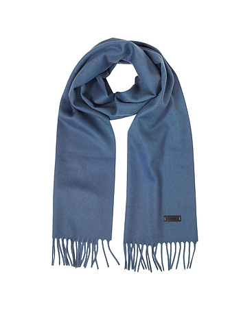 Lanvin Solid Wool Long Scarf w/Fringes