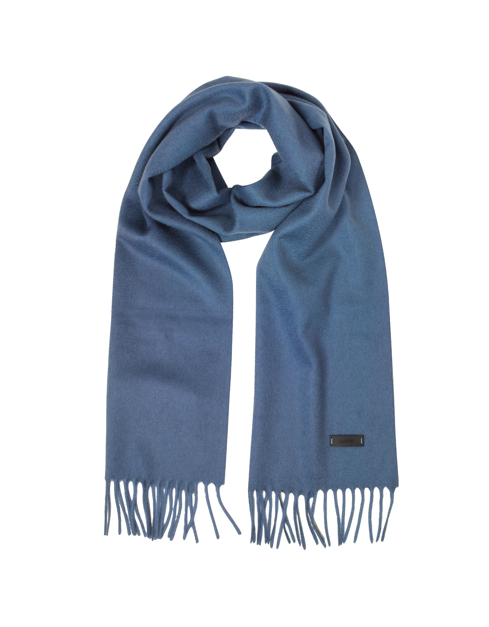 Lanvin Men's Scarves, Solid Wool Long Scarf w/Fringes