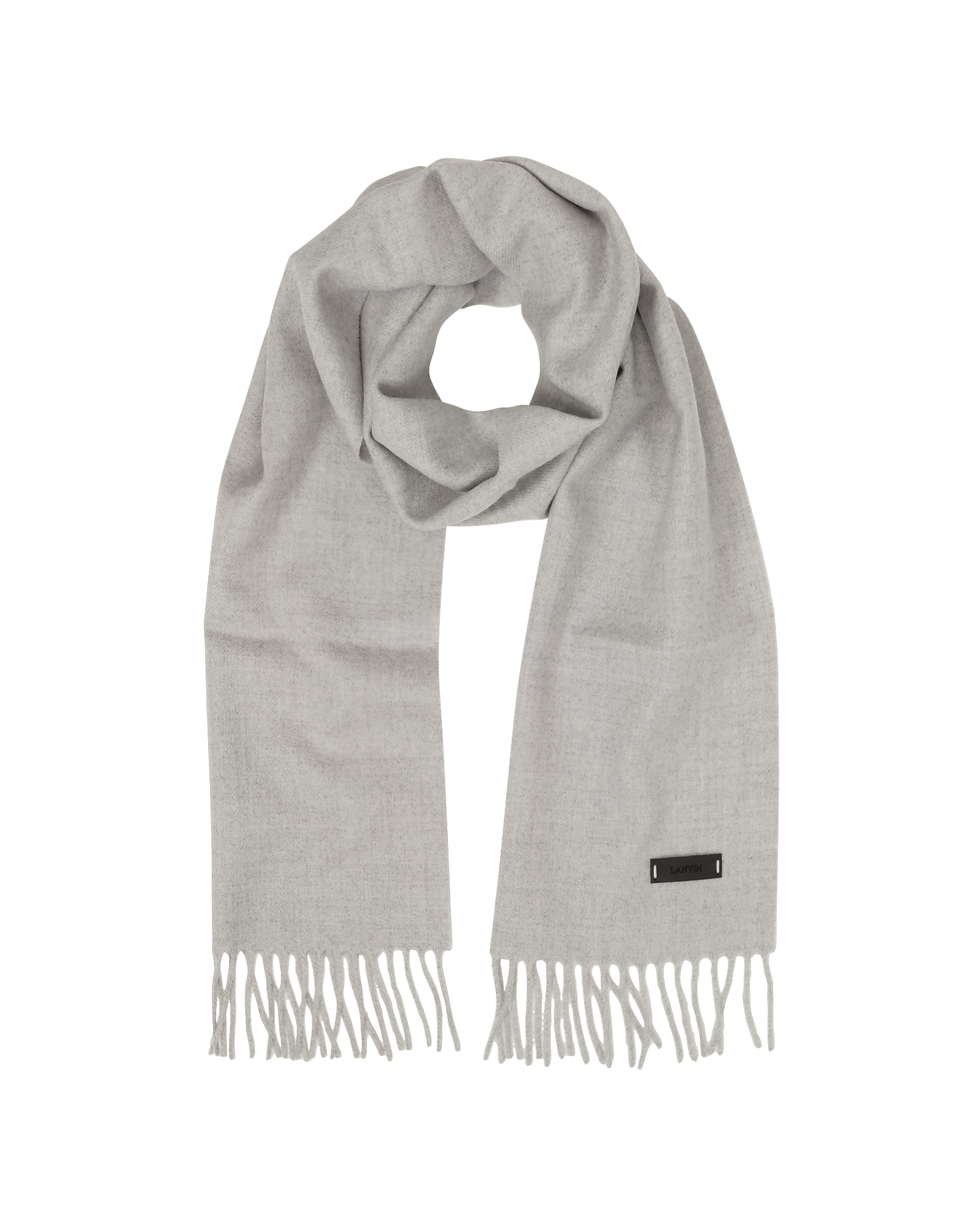 Lanvin Men's Scarves, Solid Wool Long Scarf w/Fringes