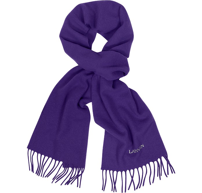Signature Solid Wool Scarf - Lanvin