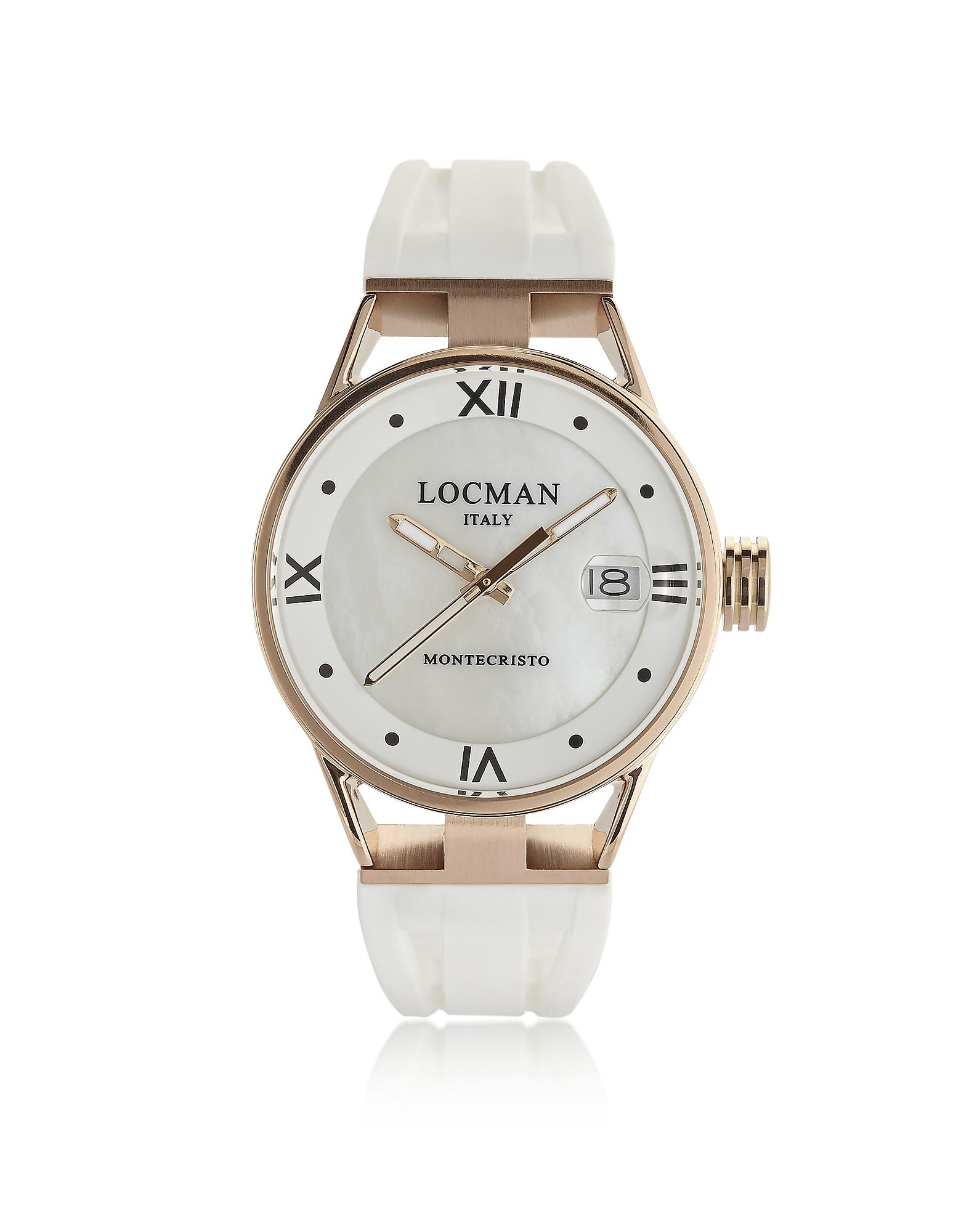 Locman Designer Women's Watches, Montecristo Rose Gold PVD Stainless Steel & Titanium Women's Watch