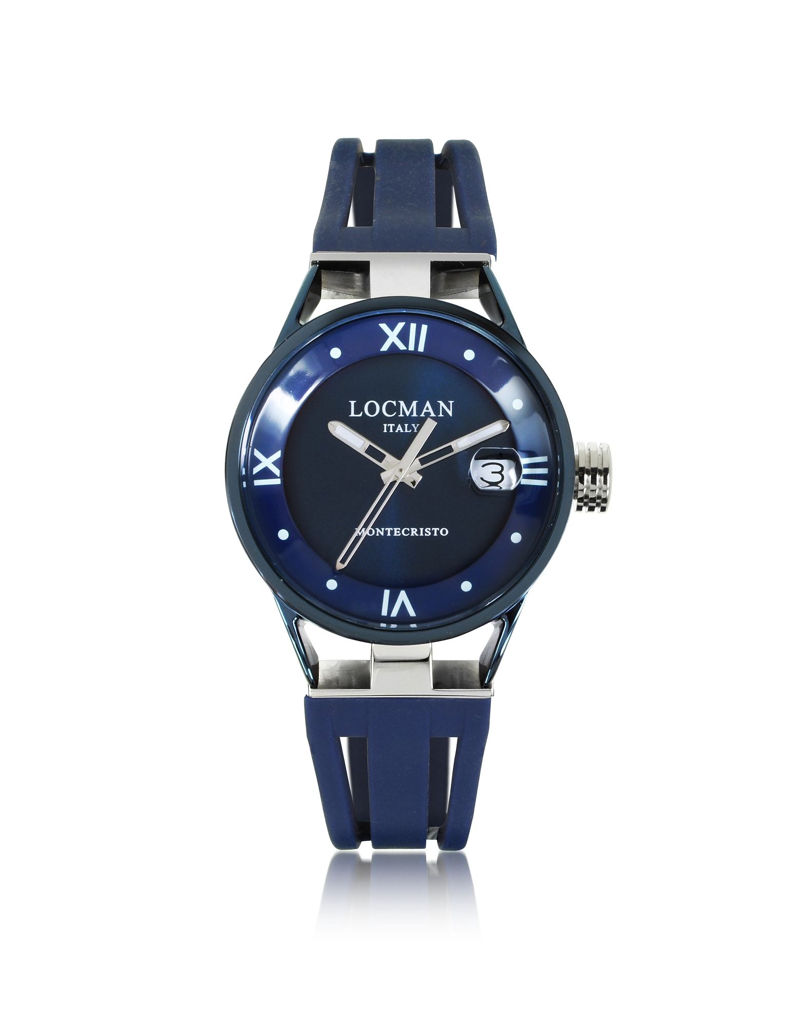 Locman Women's Watches, Montecristo Stainless Steel and Titanium Women's Watch w/Silicone Strap