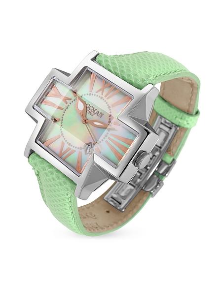 Foto Locman Plus- Orologio con data quadrante a croce verde lime Orologi Donna