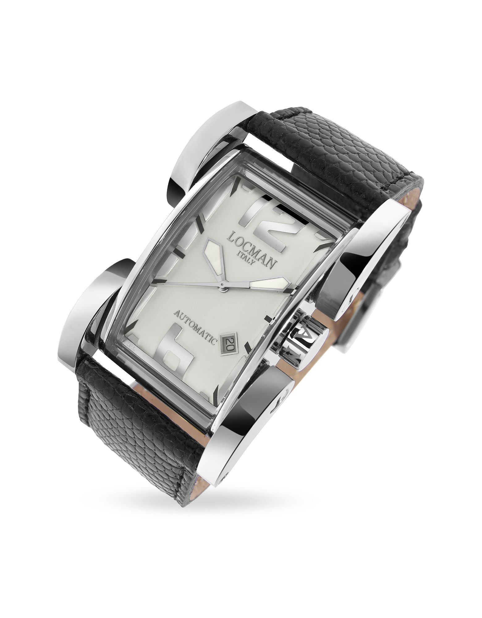Locman Men's Watches, Latin Lover - Silver Dial Black Reptile Band Automatic Watch