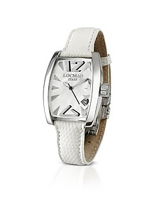 Panorama White Mother-of-Pearl Dial Dress Watch - Locman