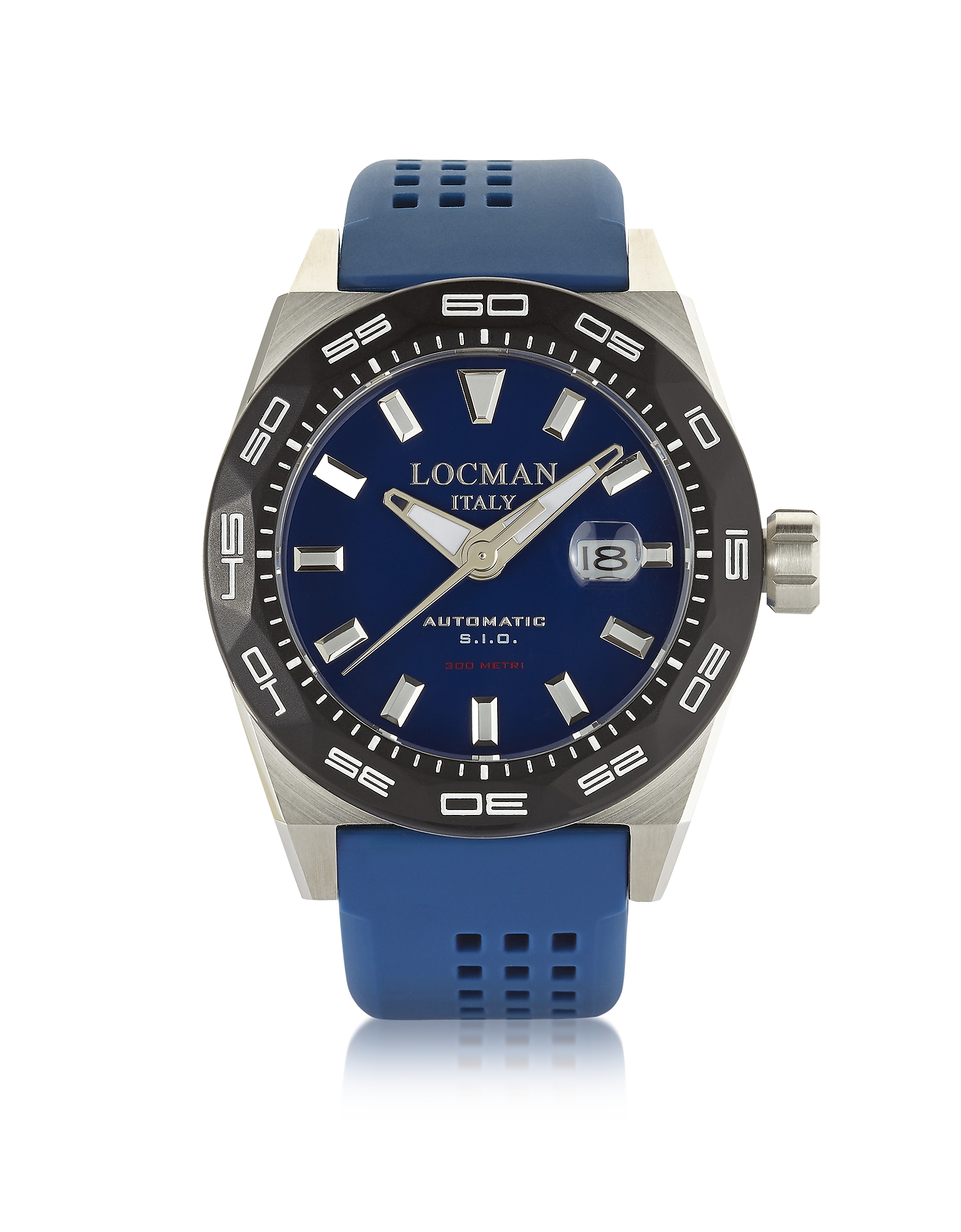 Locman Men's Watches, Stealth 300 mt Analog Display Automatic Self Wind Blue Stainless Steel, Titani