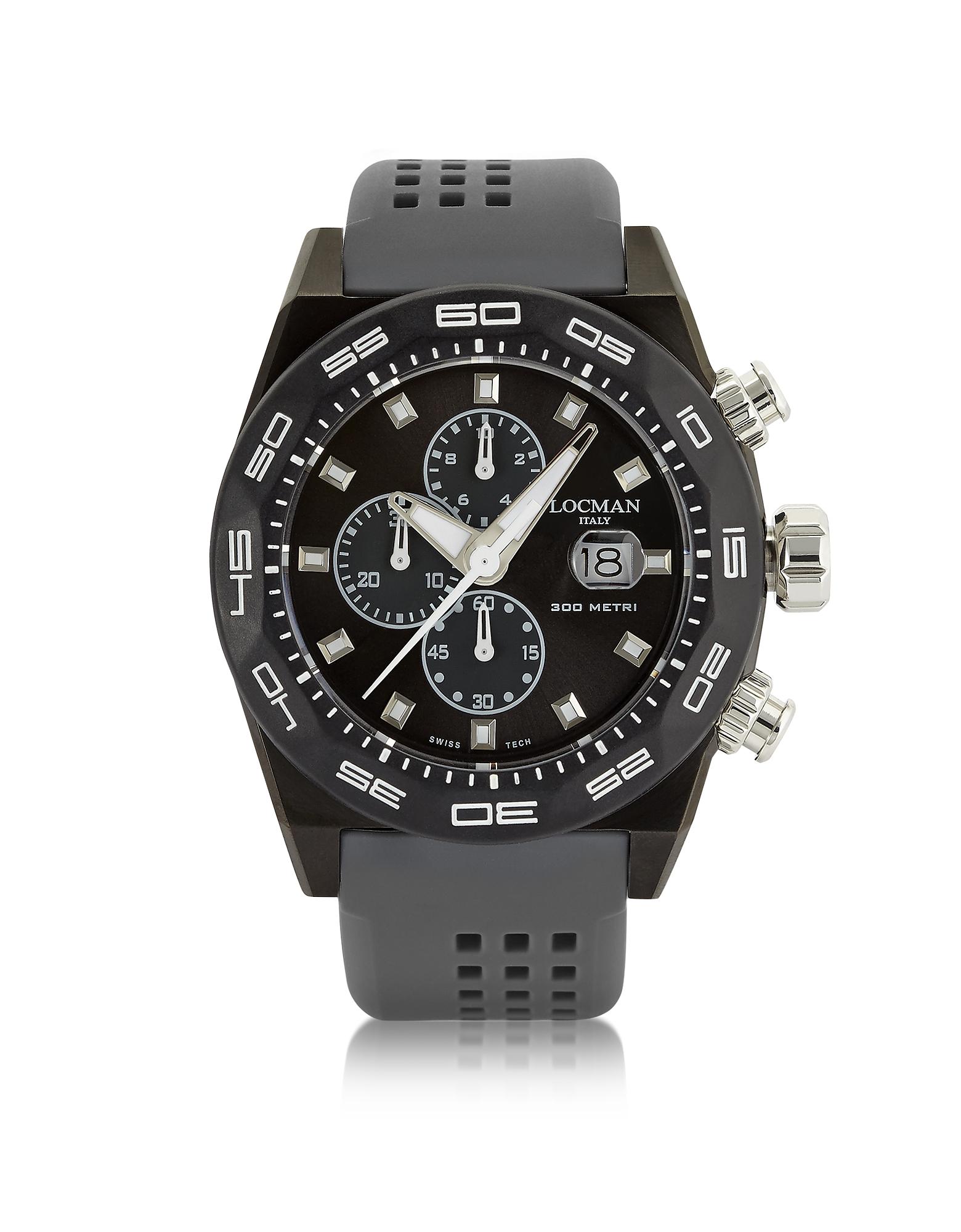 Фото Stealth 300mt - Темно-серые Мужские Часы Хронограф из Нержавеющей Стали и Титана с Кварцевым Механизмом. Купить с доставкой