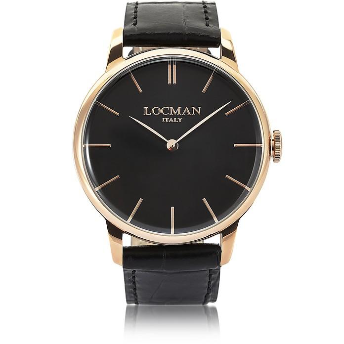 1960 Rose Gold PVD Stainless Steel Men's Watch - Locman