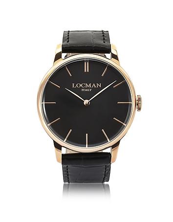 Locman - 1960 Rose Gold PVD Stainless Steel Men's Watch
