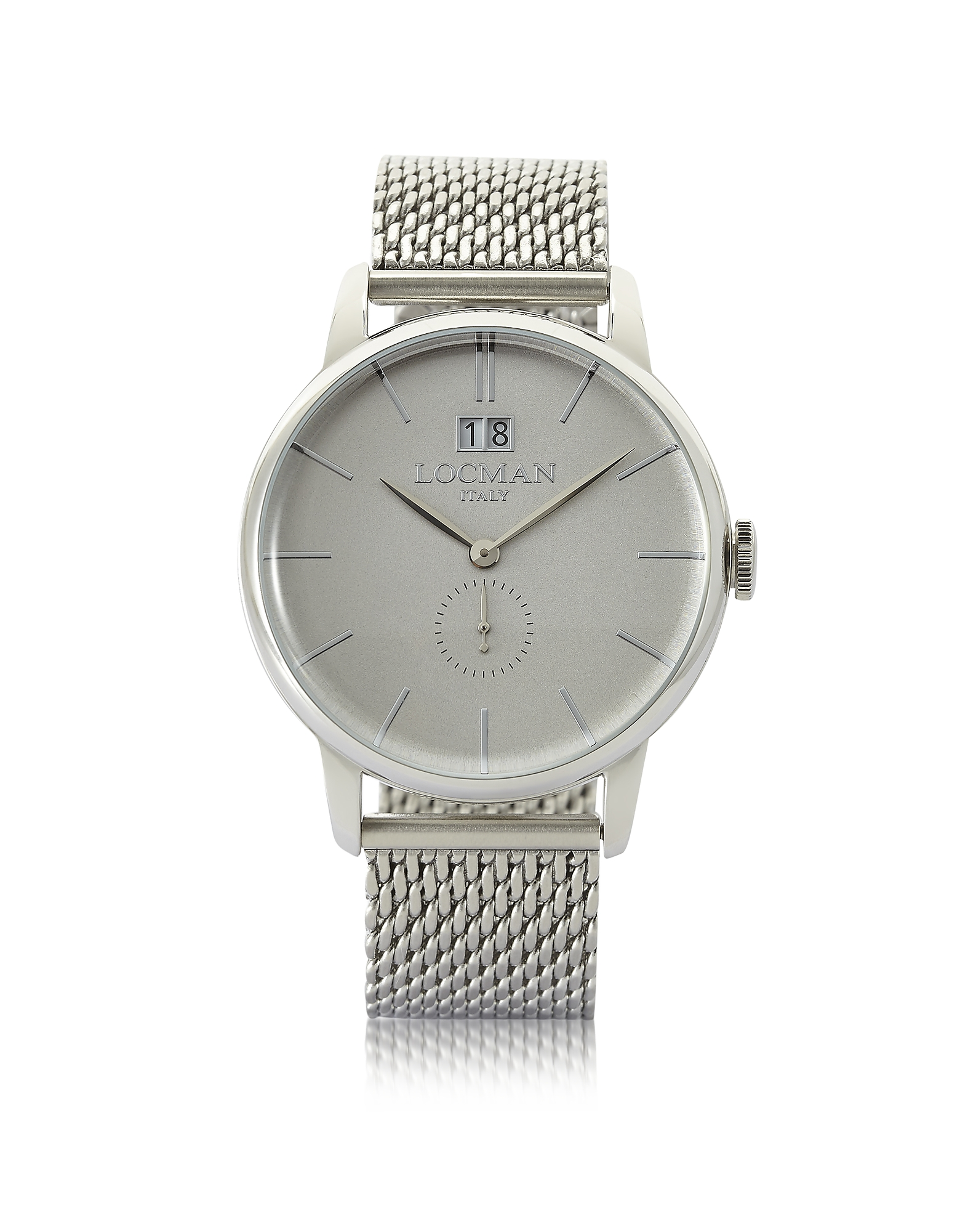 Locman Men's Watches, 1960 Silver Stainless Steel Men's Watch