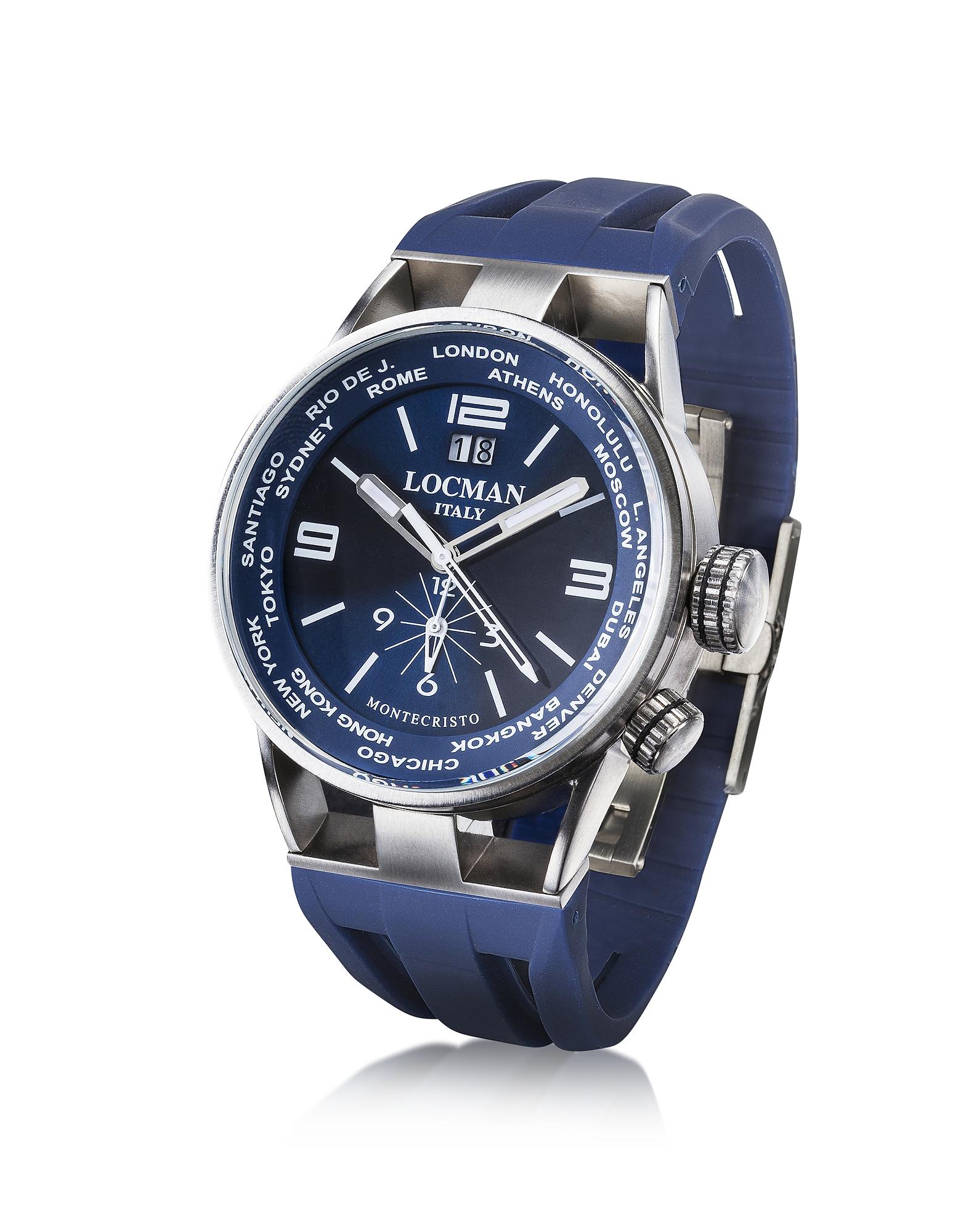 Montecristo Blue Stainless Steela & Titanium Dual Time Men's Watch от Forzieri.com INT