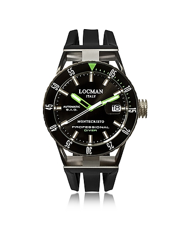 Montecristo Black PVD Stainless Steel & Titanium Chronograph Men's Watch