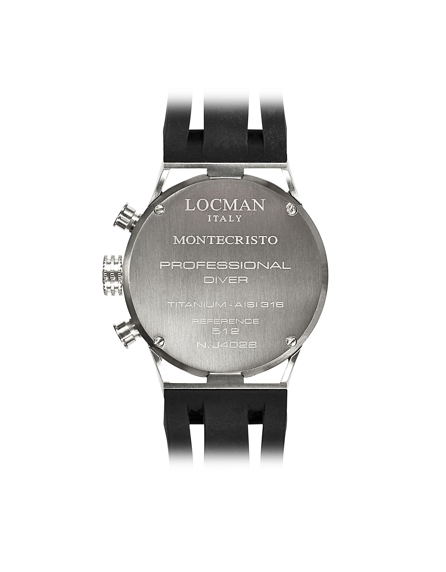 Montecristo Black PVD Stainless Steel & Titanium Chronograph Men's Watch от Forzieri.com INT