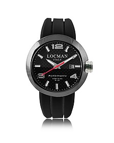locman watches for men forzieri uk one automatico black pvd stainless steel men s watch w leather and silicone band set