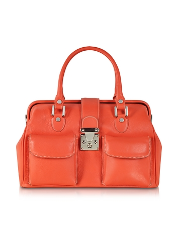 L.A.P.A. - Deep Orange Leather Doctor Bag