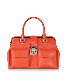 Deep Orange Leather Doctor Bag - L.A.P.A.