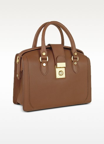 Brown Italian Leather Doctor Bag - L.A.P.A.