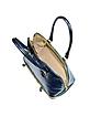Blue Croco Patent Leather Bowler Bag - L.A.P.A.