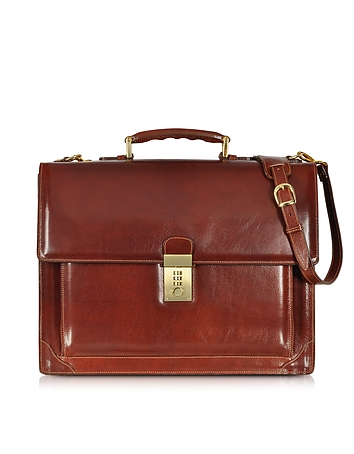 L.A.P.A. - Cristoforo Colombo Collection Leather Briefcase
