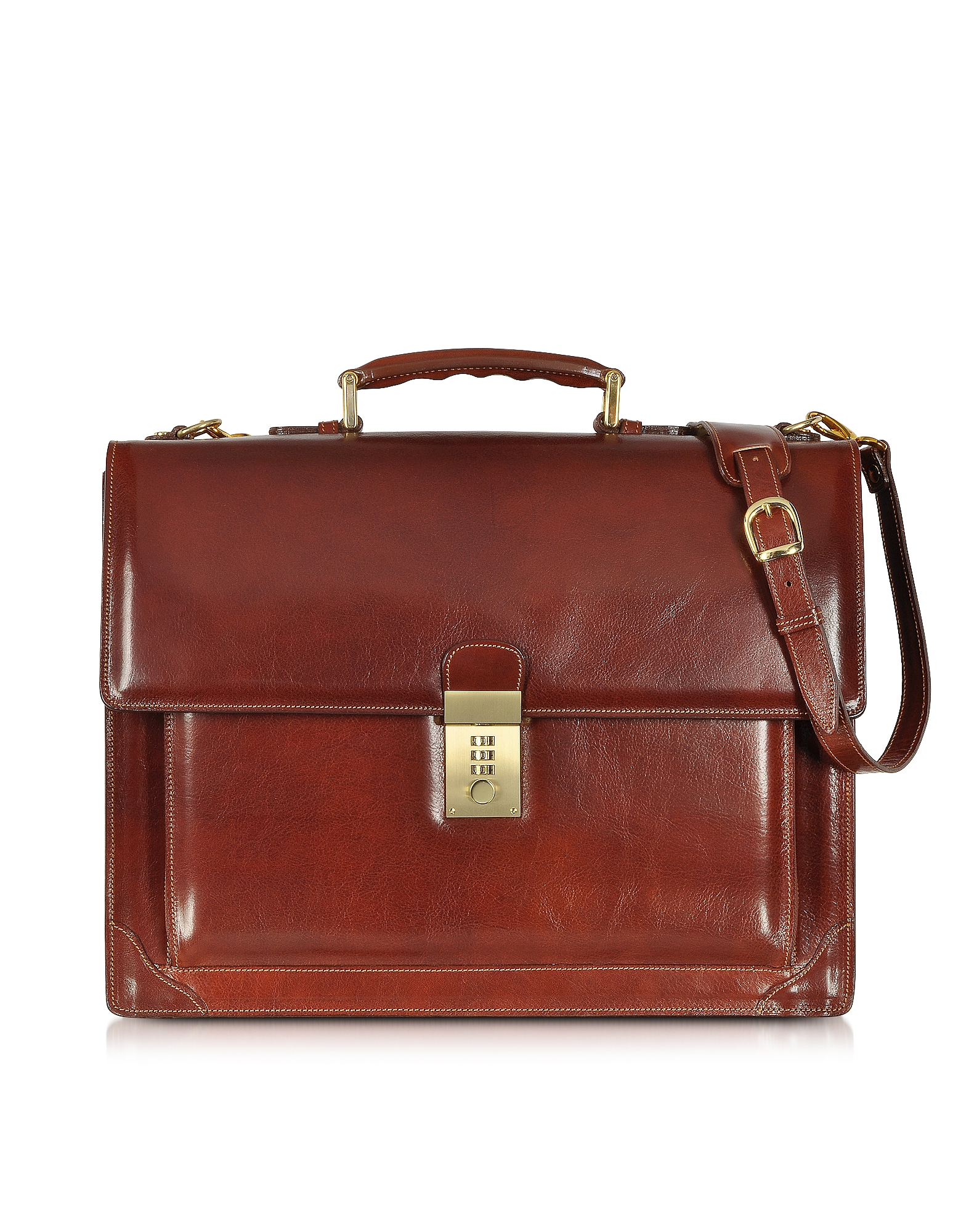 L.A.P.A. Briefcases, Cristoforo Colombo Collection Leather Briefcase