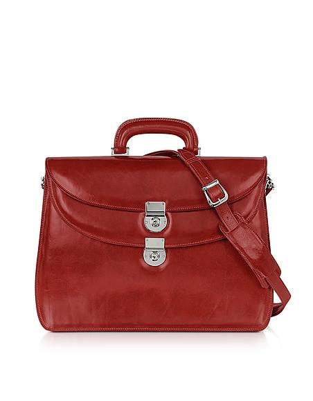 L.A.P.A. Rote Damen-Aktentasche aus Leder