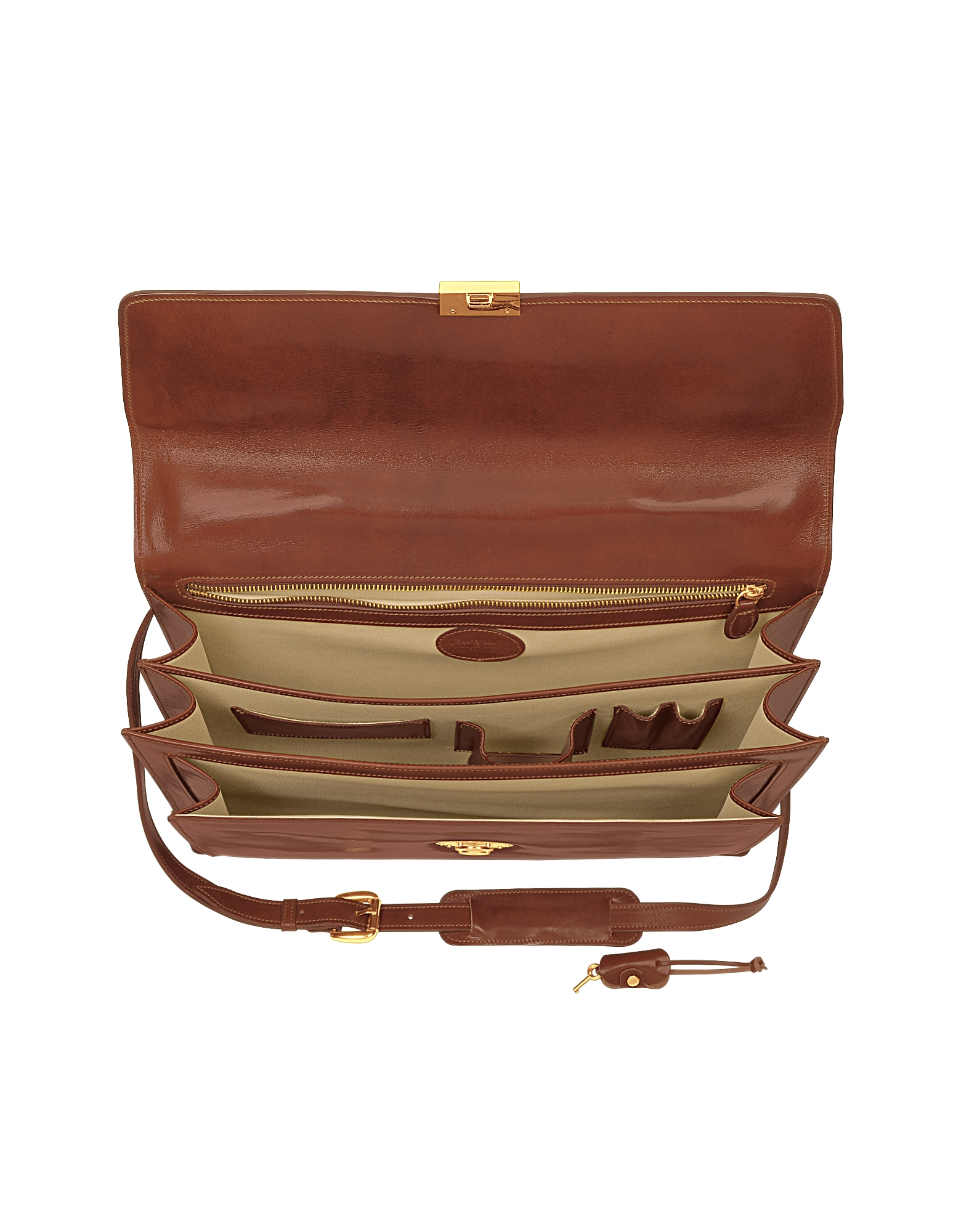 Classic Cognac Leather Briefcase от Forzieri INT