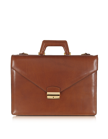 L.A.P.A. - Double Gusset Leather Briefcase