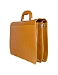 Women's Sunflower Yellow Italian Leather Briefcase  - L.A.P.A.