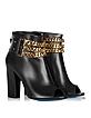 Black Leather Open Toe Ankle Boots - Loriblu