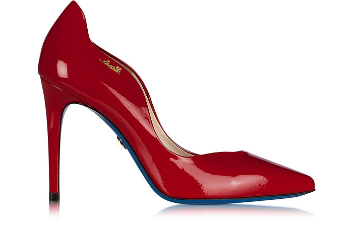 Red Patent Leather Pointed Pump - Loriblu / ローリブルー