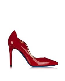 Red Patent Leather Pointed Pump - Loriblu