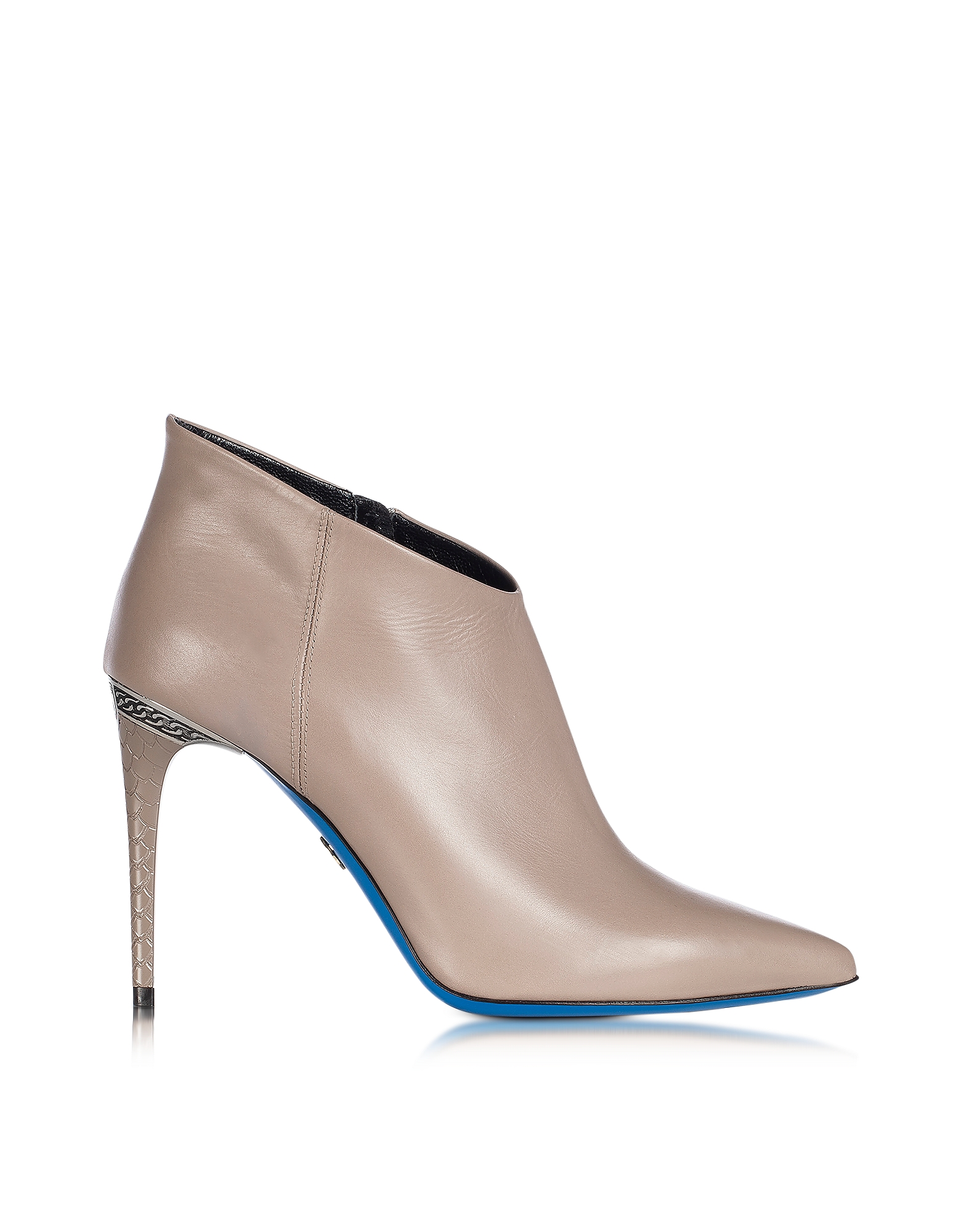 Loriblu Shoes, Dove Leather Pointed Ankle Boot