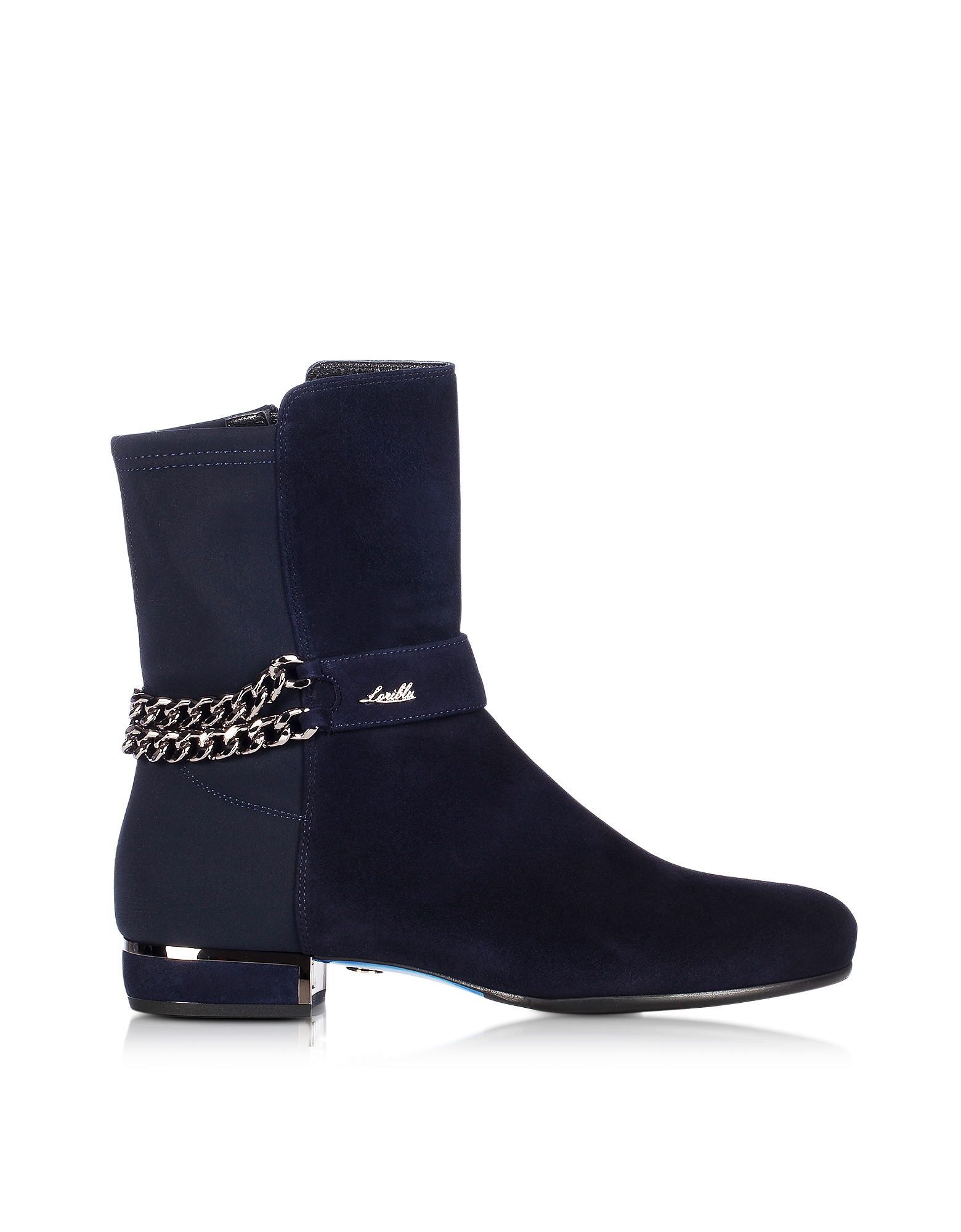 Loriblu Shoes, Night Blue Suede Bootie