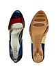 Rainbow Leather Peep-toe Pump Shoes - Loriblu