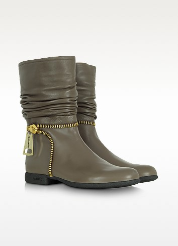 Zip Ankle Leather Boots - Loriblu