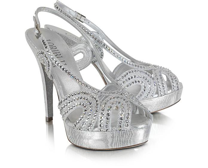 Silver Crystal Sandal - Loriblu